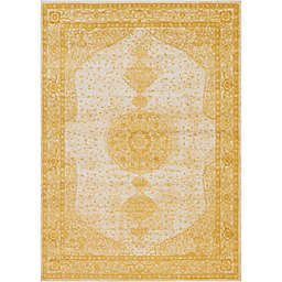 Unique Loom Midnight 8' x 10' Area Rug in Yellow
