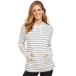 Motherhood Maternity® Side Access Nursing Hoodie in Grey/White