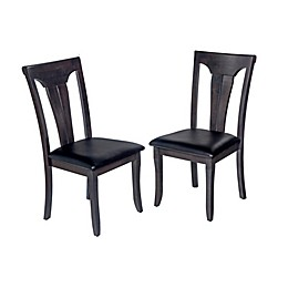 TTP Furnish Fiddle Back Dining Chairs in Dark Grey (Set of 2)