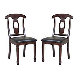 TTP Furnish Fiddle Back Side Chairs (Set of 2)