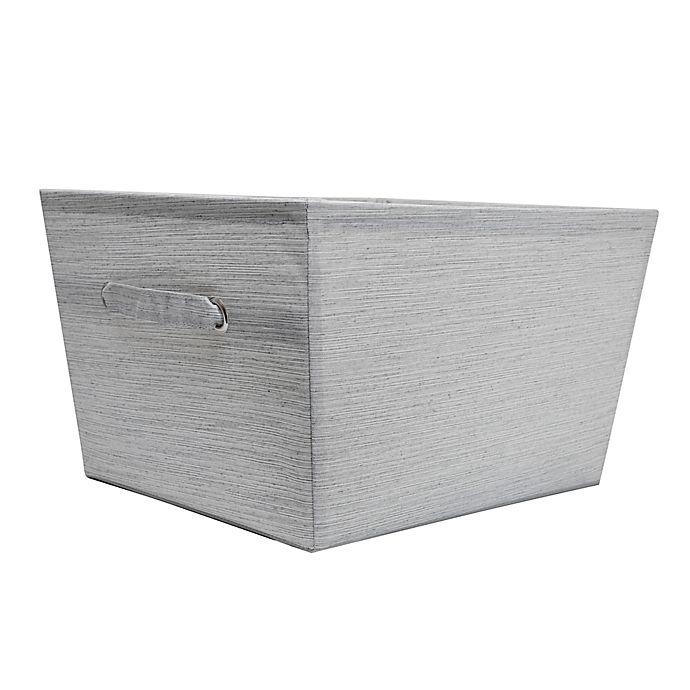 Alternate image 1 for SALT™ Serenity Large Storage Bin in Grey