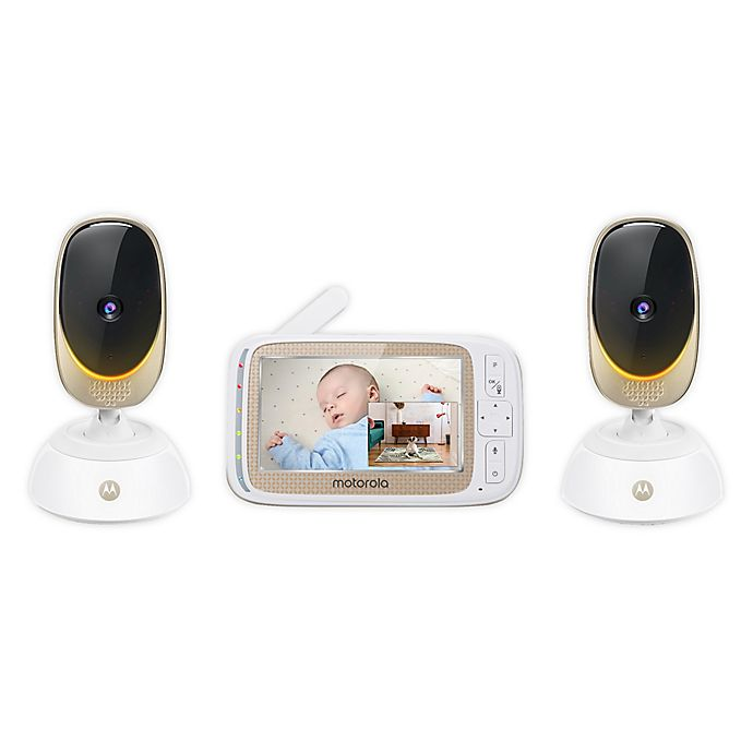 Alternate image 1 for Motorola® Comfort85-2 Connect 5-Inch Color LCD Wifi Video Baby Monitor with 2 Cameras