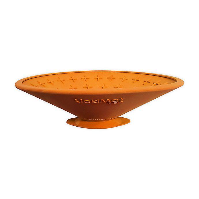 Alternate image 1 for Hyper Pet™ LickiMat Splash Treat Dispensing Mat in Orange