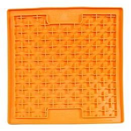 Hyper Pet™ LickiMat Boredom Buster Slow Feeder Dog/Cat Mat in Orange