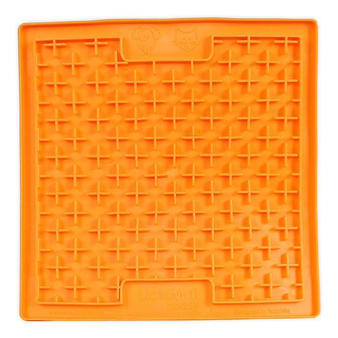 Alternate image 1 for Hyper Pet™ LickiMat Boredom Buster Slow Feeder Dog/Cat Mat in Orange