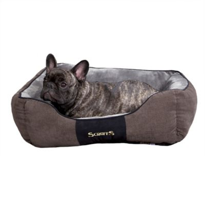 Chester Box Dog Bed in Graphite Grey