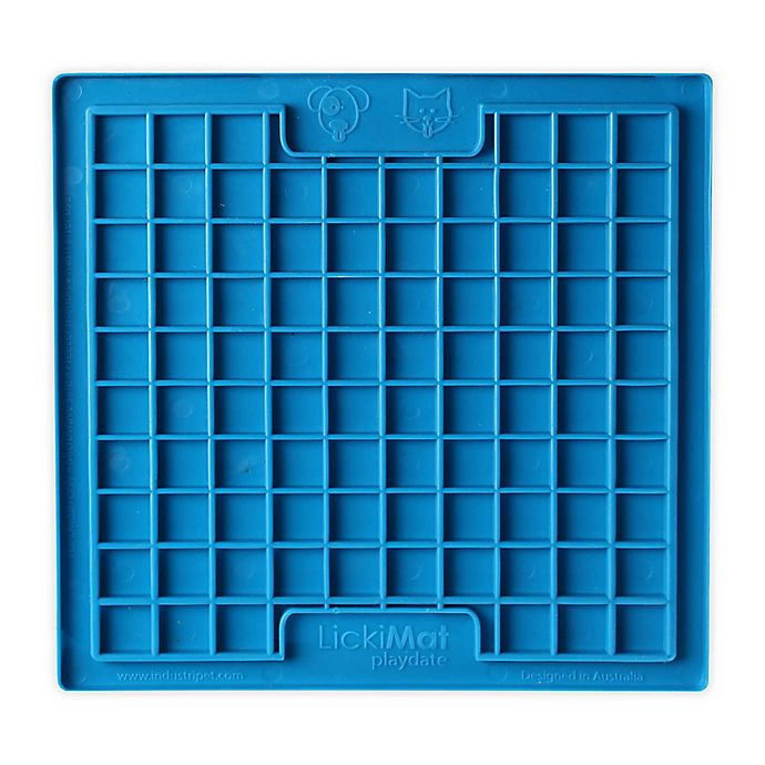 Alternate image 1 for Hyper Pet™ LickiMat Boredom Buster Slow Feeder Dog/Cat Mat in Blue
