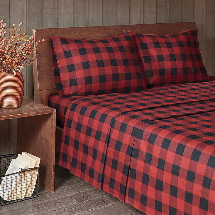Woolrich Buffalo Check Flannel Sheet Set Bed Bath Beyond