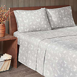 Woolrich® Moose Flannel Queen Sheet Set in Grey