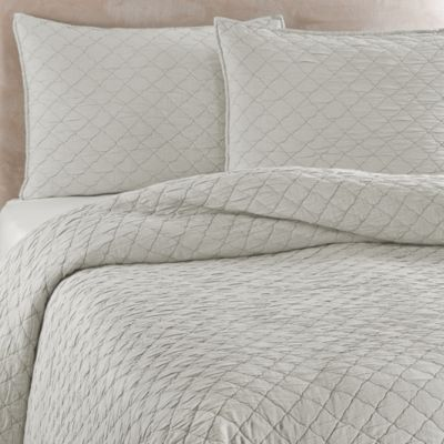Traditions Linens Louisa Coverlet In Mist Bed Bath Amp Beyond
