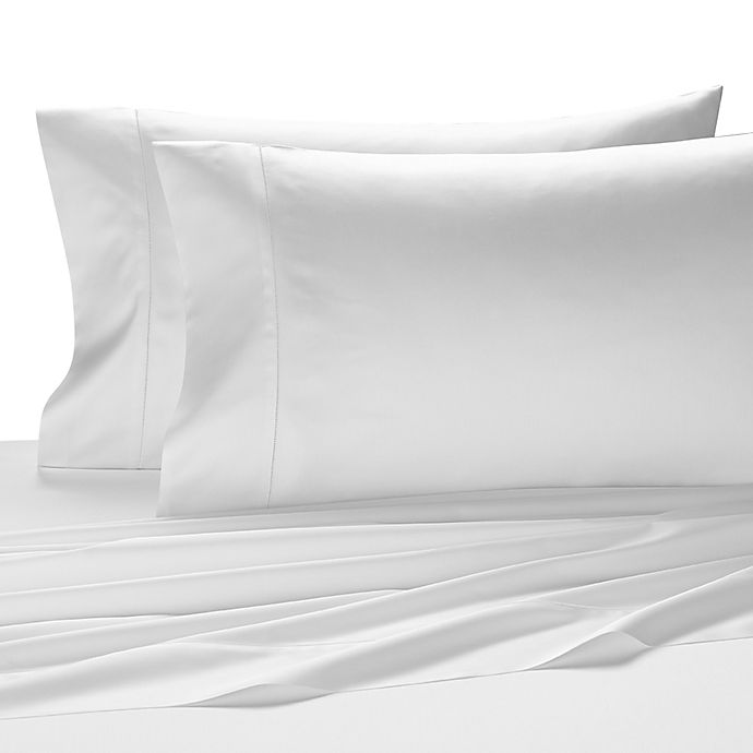 buy kassatex vicenza egyptian cotton queen fitted sheet in white from bed bath beyond. Black Bedroom Furniture Sets. Home Design Ideas