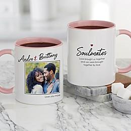 Soulmates Personalized Romantic Photo 11 oz. Coffee Mug