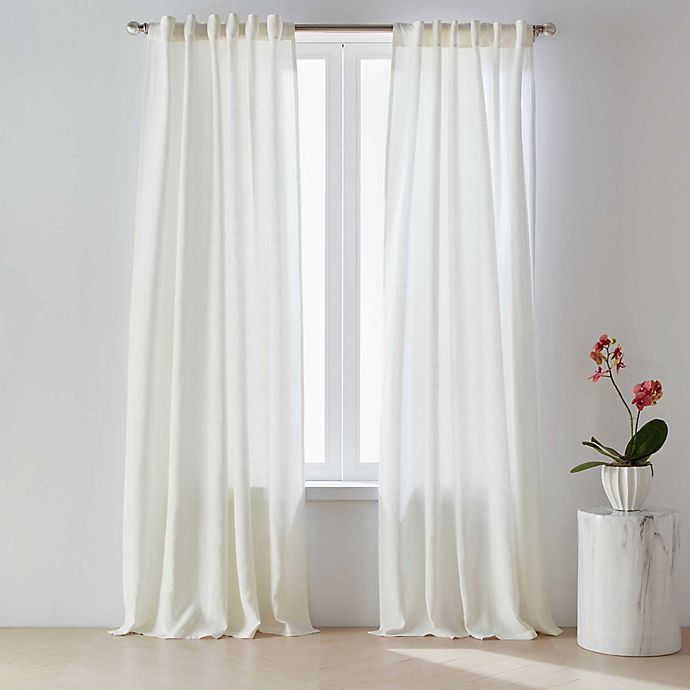 Alternate image 1 for O&O by Olivia & Oliver™ 100% Belgian Linen Rod Pocket/Back Tab Curtain Panel