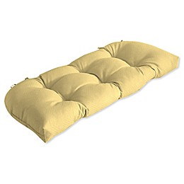 Arden Selections™ Solid Outdoor Tufted Wicker Settee Cushion