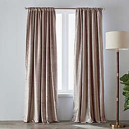 O&O by Olivia & Oliver™ Velvet 84-Inch Rod Pocket Curtain Panel in Lavender (Single)