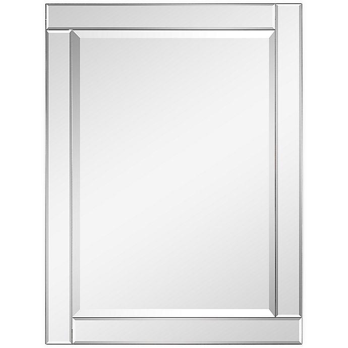 Moderno 30 Inch X 40 Beveled, White Bathroom Mirror 30 X 40