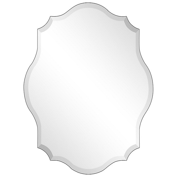Frameless Prism 30 Inch X 40 Inch Scalloped Oblong Beveled Wall Mirror Bed Bath Beyond