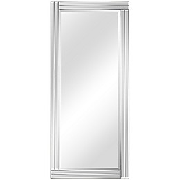 Empire Art Direct Moderno Rectangle Stepped Beveled Wall Mirror