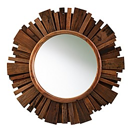 Southern Enterprises© Starklyn 34-Inch Round Wall Mirror in Natural Reclaimed Wood