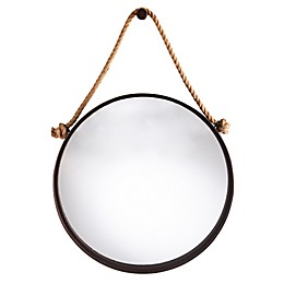 Southern Enterprises© Melissa 28-Inch x 40.25-Inch Hanging Mirror in Black with Natural Rope