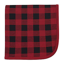 Touched by Nature Buffalo Plaid Organic Cotton Swaddle Blanket in Red