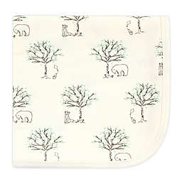 Touched by Nature Birch Trees Organic Cotton Swaddle Blanket in Beige