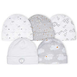 Gerber® Newborn 5-Pack Lamb Hats in Grey/White