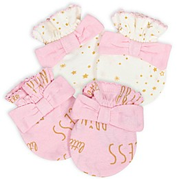 Gerber® Size 0-3M 2-Pack Princess Mittens in Pink/White