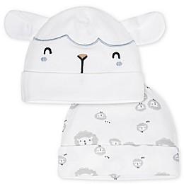 Gerber® Newborn 2-Pack Sheep Hats in White/Grey