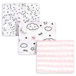 Hudson Baby® 3-Pack Dreamer Muslin Swaddle Blankets in White/Pink