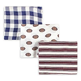 Hudson Baby® 3-Pack Football Swaddle Blankets