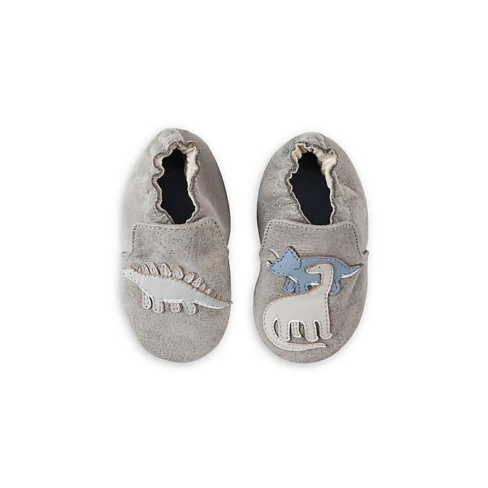 Alternate image 1 for Robeez® Ramsey Dinosaur Shoe in Grey