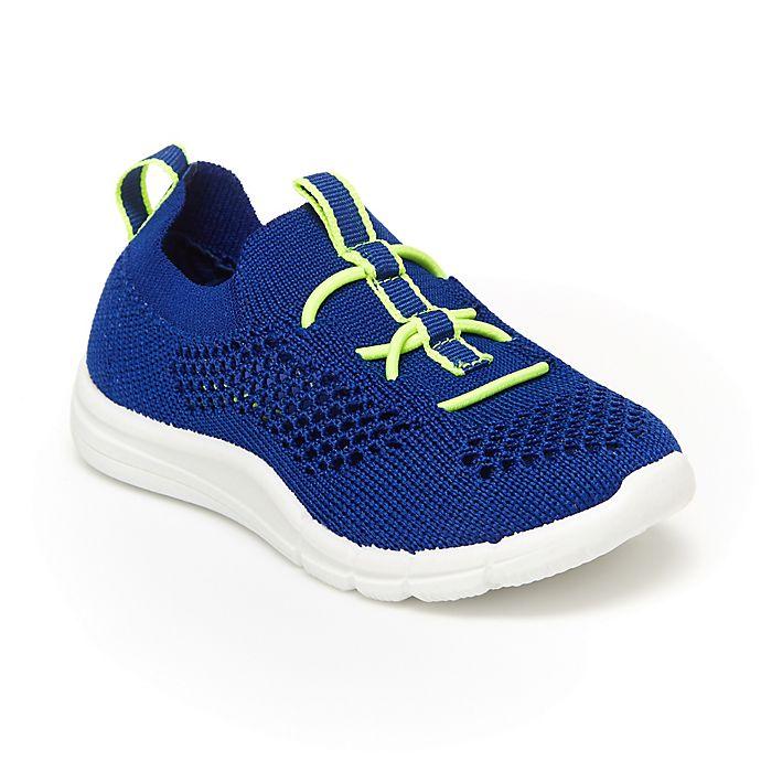 Alternate image 1 for OshKosh B'gosh® Tahoe Pull-On Sneaker in Blue/Lime