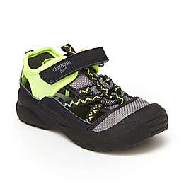 OshKosh B'gosh® Thut Shoe in Black/Lime
