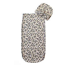 Itzy Ritzy® Size 0-3M 2-Piece Leopard Cutie Cocoon and Hat Set in Grey
