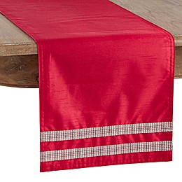 Saro Lifestyle Brilliante Table Linen Collection in Red