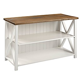 Forest Gate Wheatland Solid Wood Farmhouse Console Table Bookcase