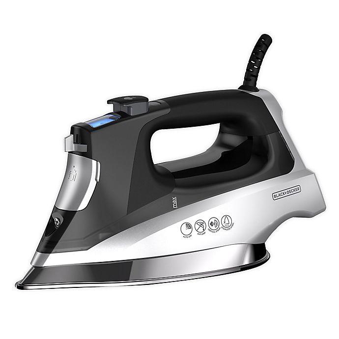 Alternate image 1 for Black + Decker™ Professional Steam Iron in Silver/Black