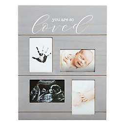 "Pearhead® ""You Are So Loved"" 4-Photo Picture Frame in Grey"