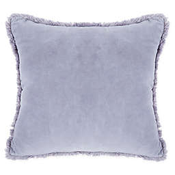 Wamsutta® Vintage Velvet Frayed Ruffle Square Indoor/Outdoor Throw Pillow in Grey