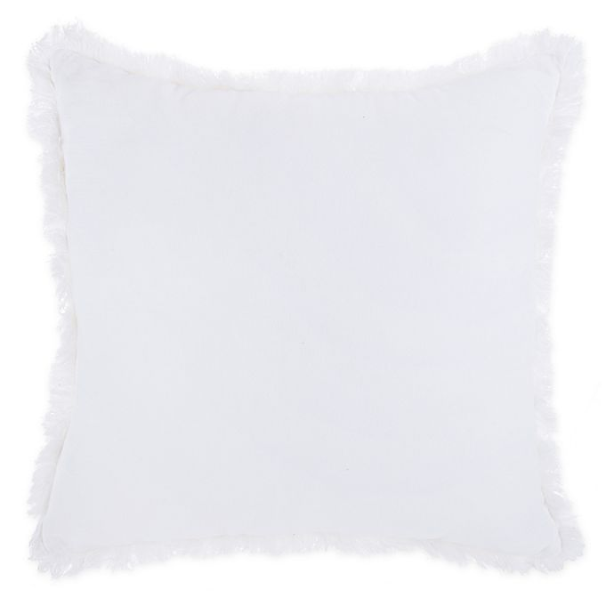 Alternate image 1 for Wamsutta® Vintage Abigall Velvet Star Throw Pillow in White