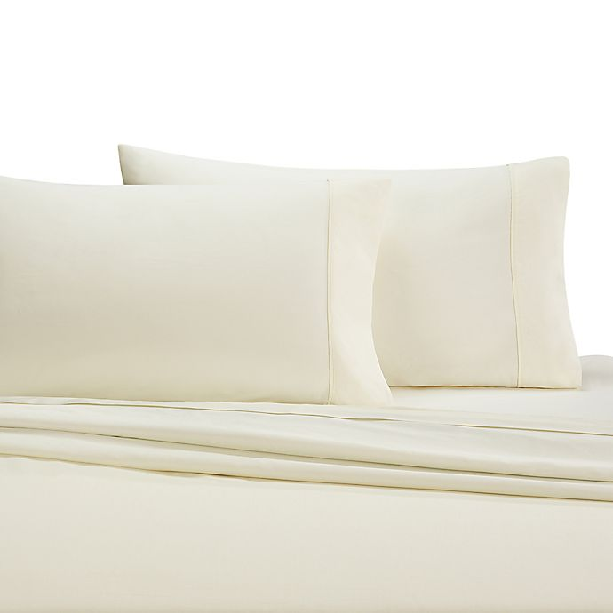 Alternate image 1 for Wamsutta® 350-Thread-Count Egyptian Cotton King Pillowcases in Ivory (Set of 2)