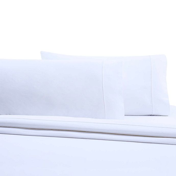 Alternate image 1 for Wamsutta® 350-Thread-Count Egyptian Cotton Pillowcases in White (Set of 2)