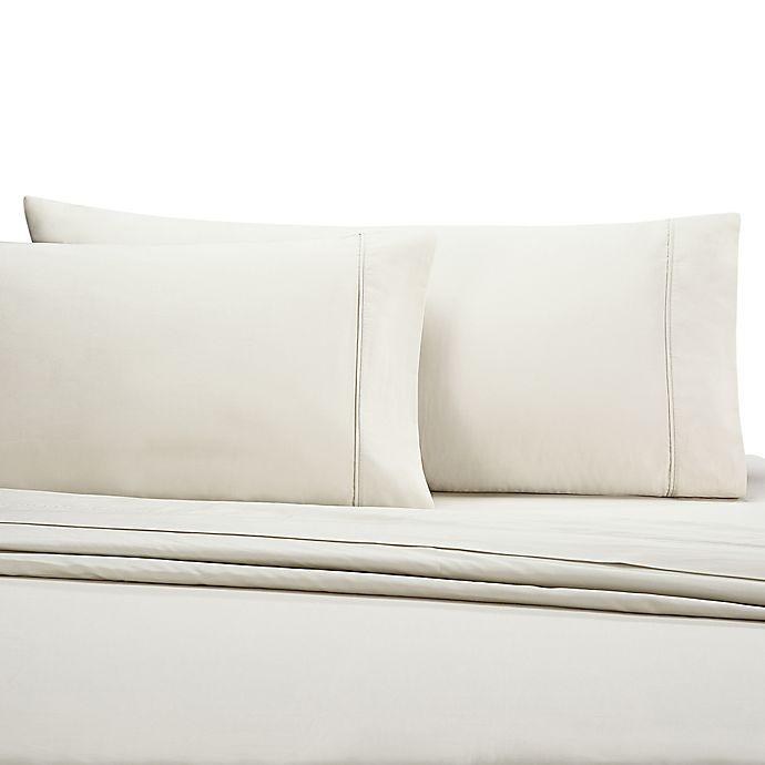 Alternate image 1 for Wamsutta® 350-Thread-Count Egyptian Cotton Standard Pillowcases in Khaki (Set of 2)