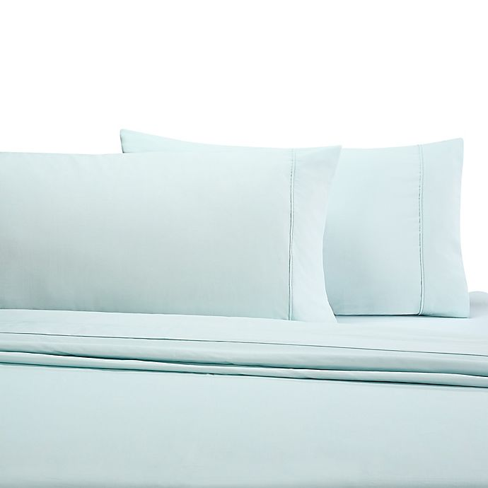 Alternate image 1 for Wamsutta® 350-Thread-Count Egyptian Cotton Standard Pillowcases in Mint (Set of 2)