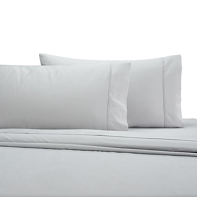 Alternate image 1 for Wamsutta® 350-Thread-Count Egyptian Cotton Standard Pillowcases in Silver (Set of 2)