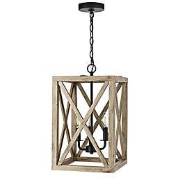 Safavieh Rabea 3-Light Ceiling Pendant in Black