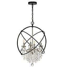 Safavieh Sabina 4-Light LED Pendant in Nickel/Black