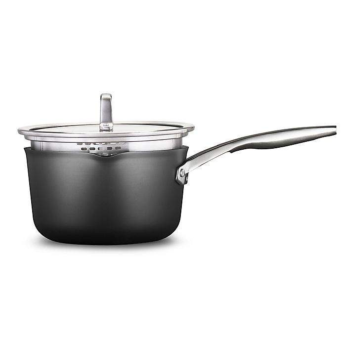 Alternate image 1 for Calphalon® Premier™  Hard-Anodized Nonstick 3.5 qt. Covered Saucepan