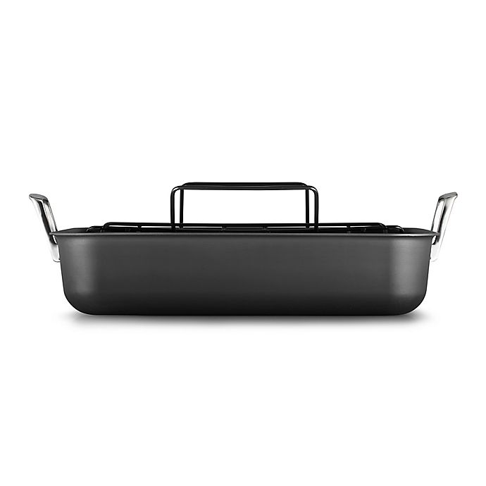 Alternate image 1 for Calphalon® Premier™ Hard-Anodized Nonstick 16-Inch  Roaster with Rack